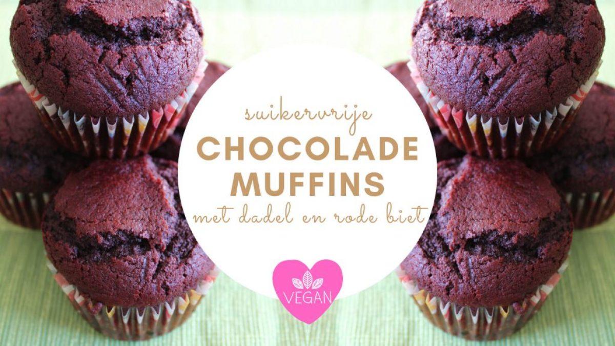 Recept voor Chocolade muffins met dadel en rode biet (vegan & suikervrij!)